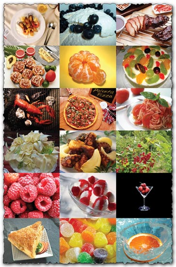 Food and fruits images collection