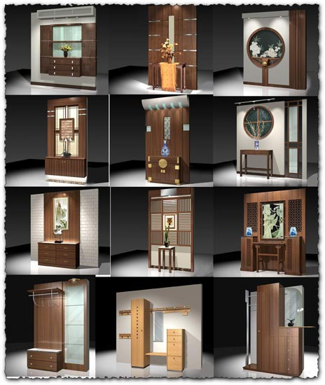 3D furniture for bedrooms and salons models