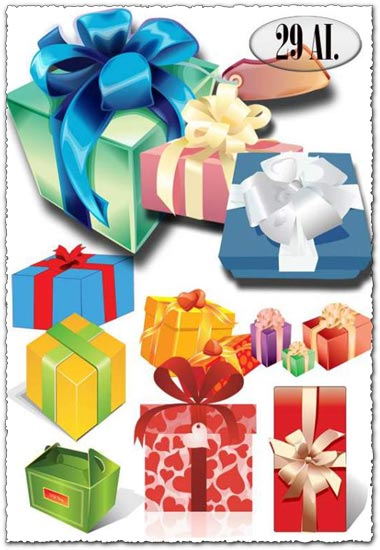 29 Vector gift boxes