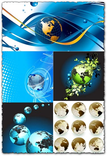 Globe shapes vector design