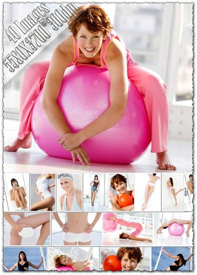 Girls making exercises images