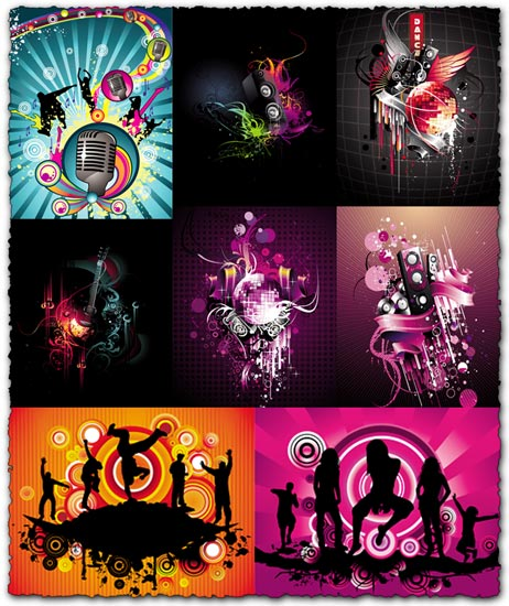 Music party vectors design