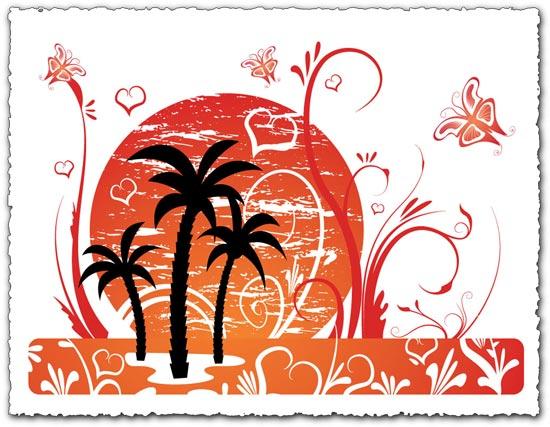 Palm tree vector design