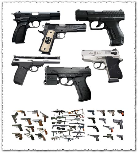 Photoshop weapons psd layouts