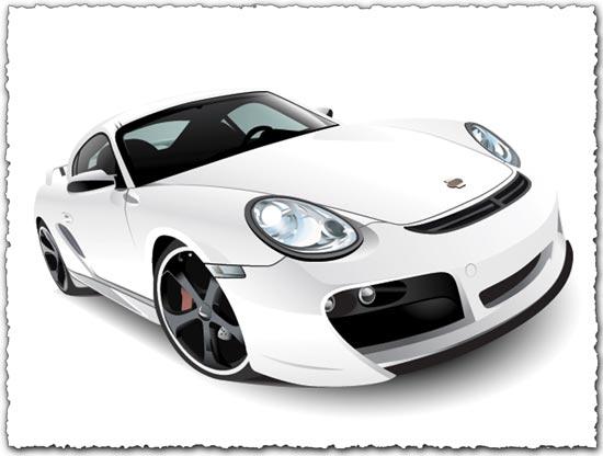 Porsche Car Vector EPS