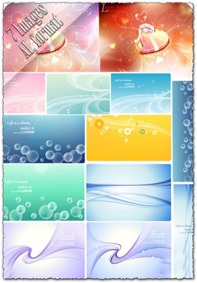 Vector banner postcards backgrounds
