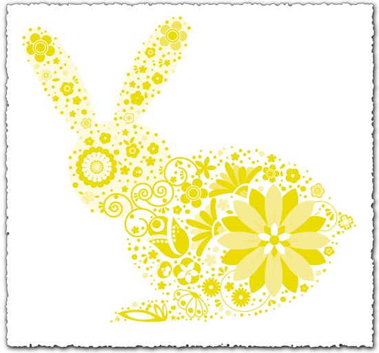 Rabbit pattern EPS
