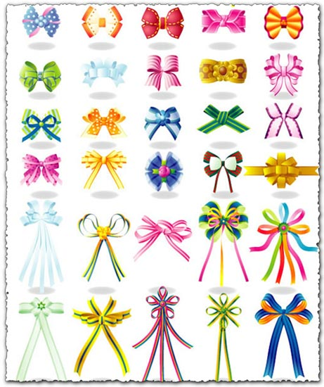 Ribbons and rosettes in eps vector format