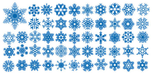 Snowflakes vector pattern shapes