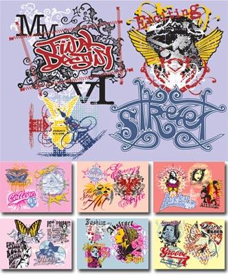 Grafitti designs in urban style vectors