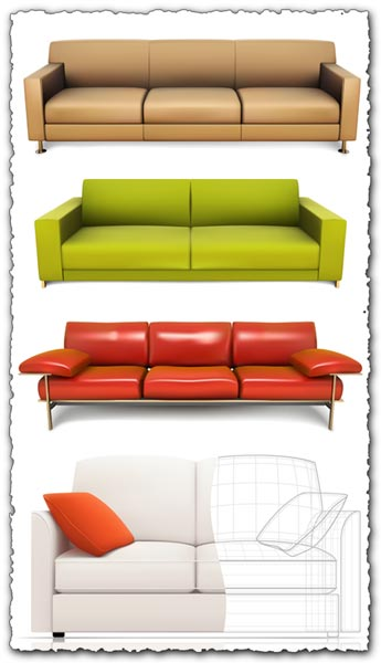 Sofa design in vector format