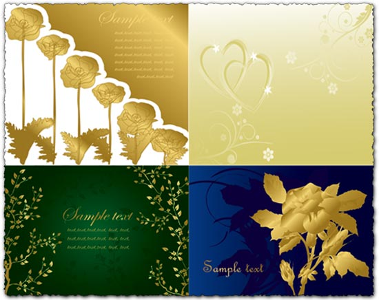 Vector wedding invitation templates