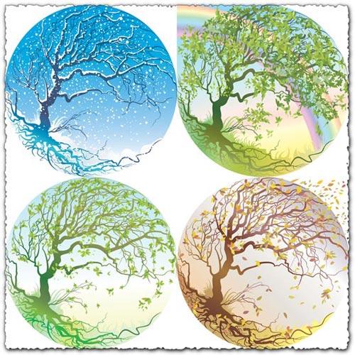 4 seasons vectors