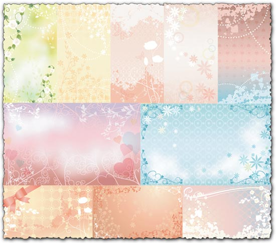 Vector wedding textures