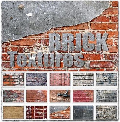 68 brick textures collection