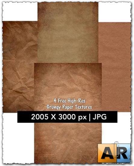 4 grunge paper textures