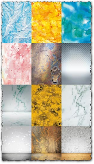 Paint, metallic and grunge textures