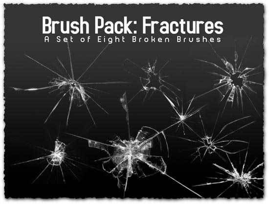 Broken Glass Photoshop Brushes