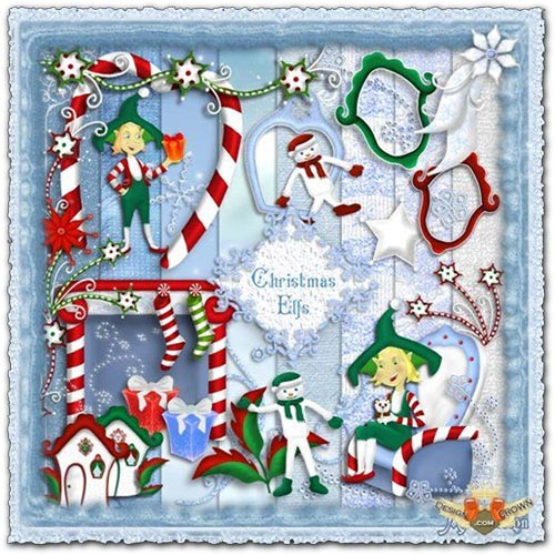 Backgrounds and frames for Christmas