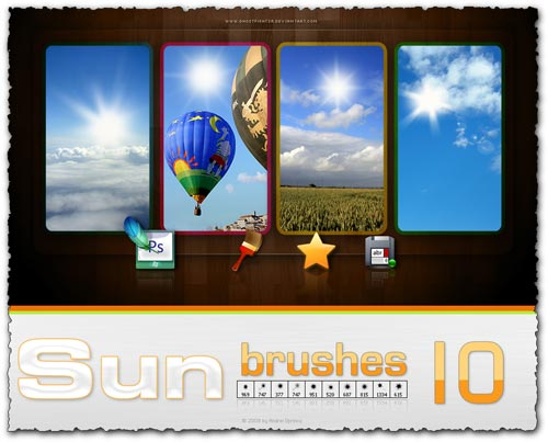 Creative Sun Photoshop Brushes