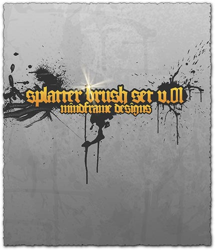 Photoshop splatter brush