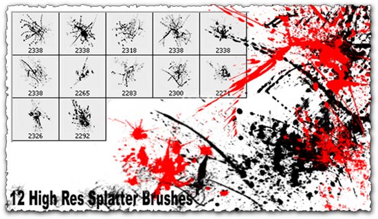 Photoshop Ink Splatter Brushes