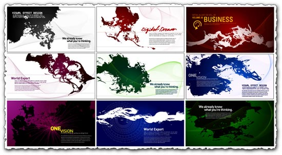 Ink business cards templates