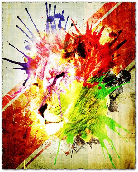 Photoshop watercolor splatters brushes