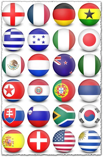 250 countries flags avatars