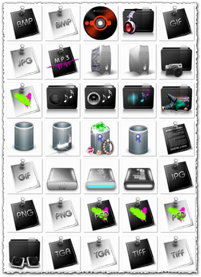 PPng media colored icons