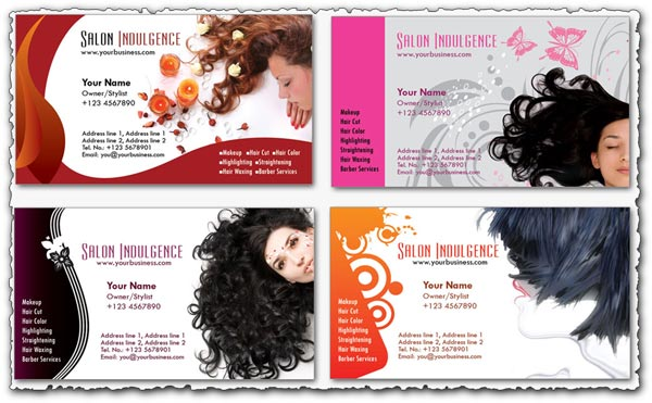 Business cards beauty salon psd