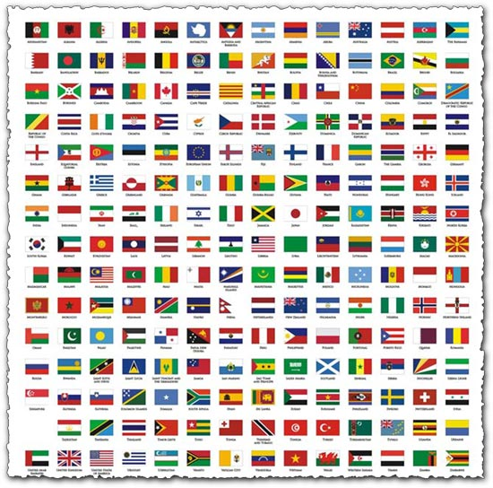 Corel draw flags national flags of vector material