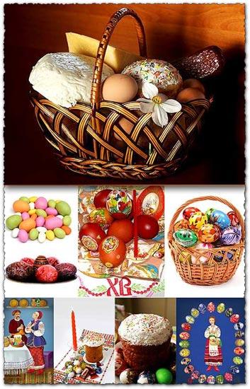 Easter basket eggs photos