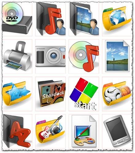 Electronics and windows folder icons