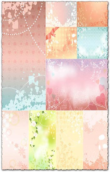 Vectorial backgrounds for wedding pics these nice and colorful eps wedding