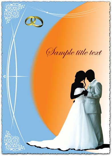Vectorial wedding card template yes when it comes to wedding you definetly
