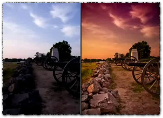 Photoshop tutorial dramatic color effect camera