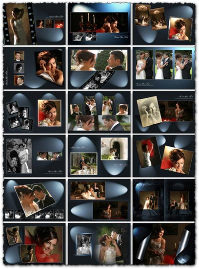 20 Photoshop wedding frame albums