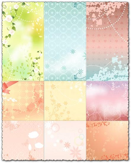 10 eps vectors with jpg preview 10 Mb Wedding background models