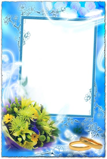 Wedding bouquet png frame