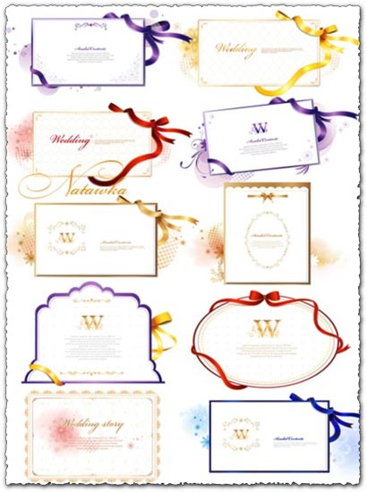 Wedding invitations vector eps