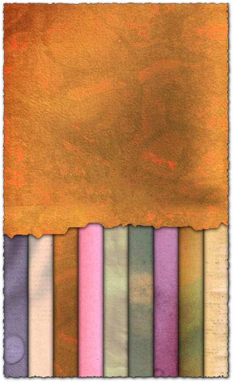 9 colored paper textures