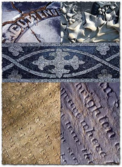 Ancient tombstones textures collection