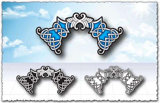 Arabic ornament elements