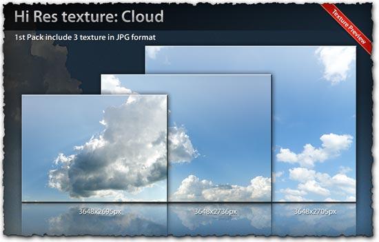 Cloud texture templates