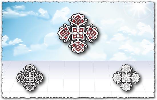 Decorative oriental patterns