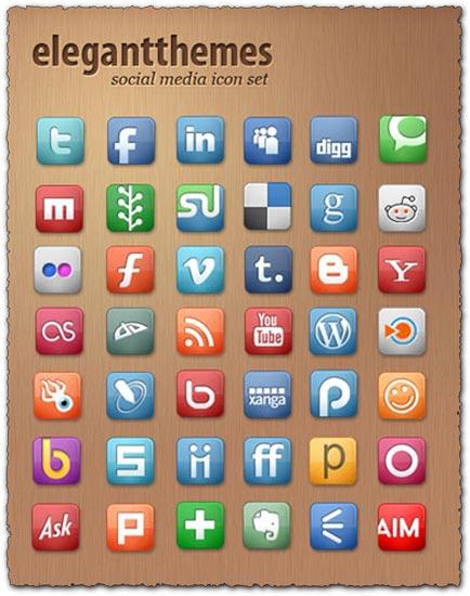 Elegantthemes social media icon set