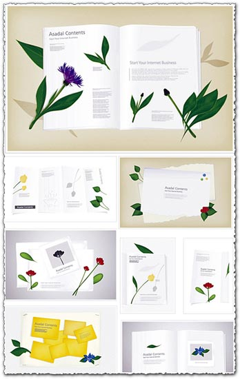 Flower album template design