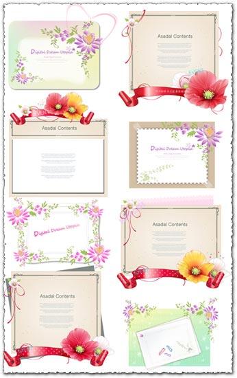 Flower background design element