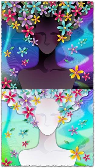 Flower girl vector model
